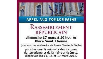 Marche Blanche en hommage aux victimes des attentats de Toulouse et Montauban