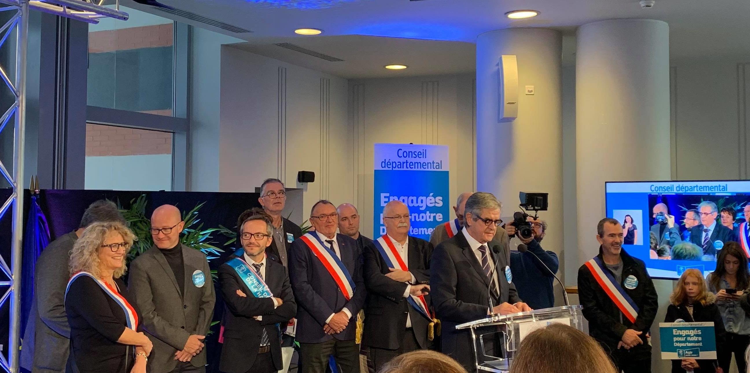 Rassemblement en soutien au Département de la Haute-Garonne