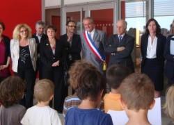 Mercredi 28 avril, Inauguration du groupe scolaire Léonard de Vinci à Seilh