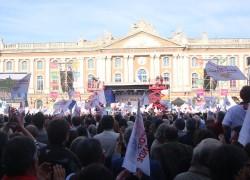 Dernier Meeting de la campagne présidentielle à Toulouse
