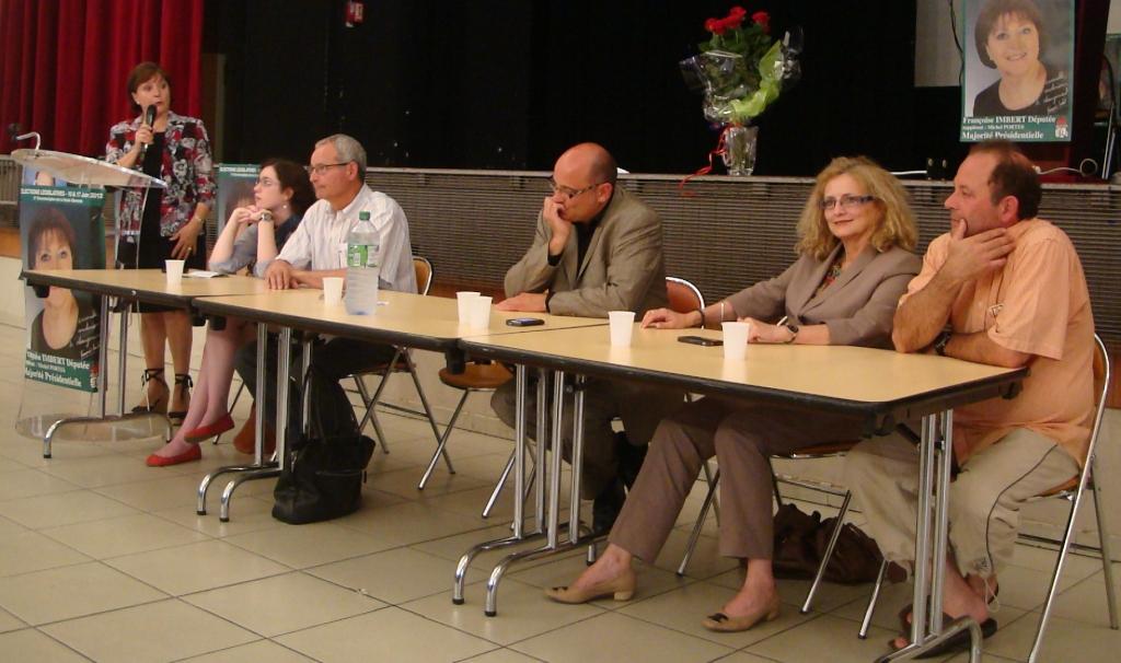 Réunion Publique avec Françoise Imbert à Aucamville