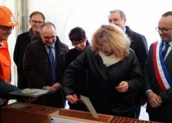 Pose première pierre de la future Mairie de Mondonville
