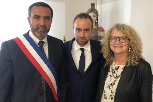 Visite du Ministre Sébastien Lecornu à Saubens