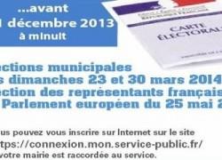 Elections 2014 : Pensez à vous inscrire sur les listes électorales
