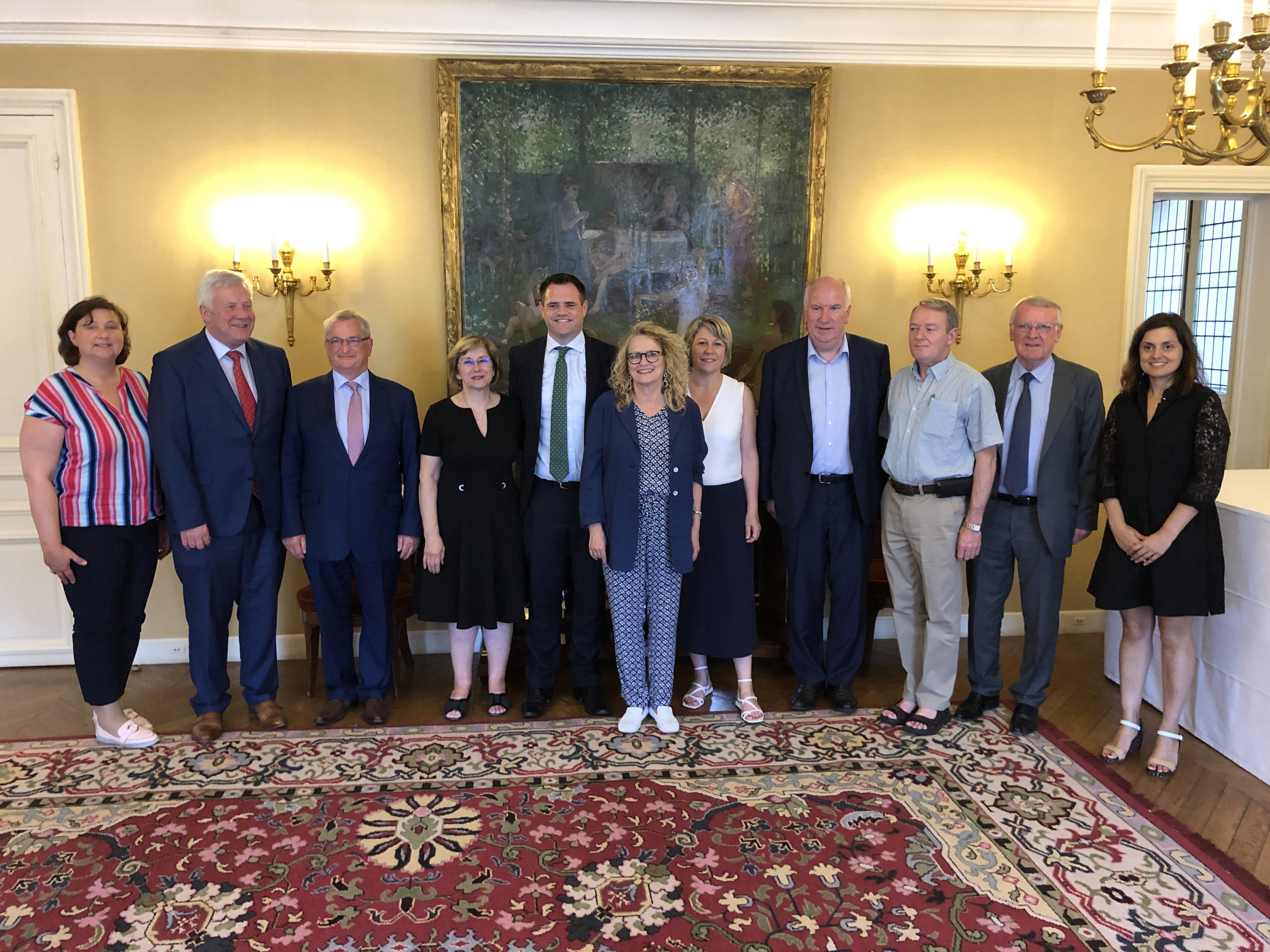 Rencontre du groupe d'amitié France-Irlande