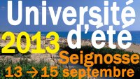 Université d'été 2013 du PRG