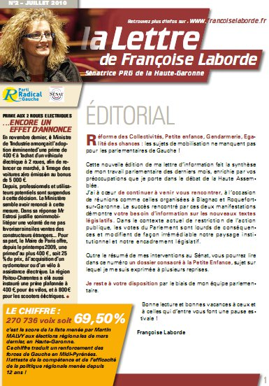 N°02 - Juillet 2010 - news F. Laborde