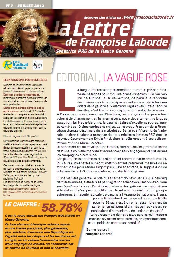 N°07 - juillet 2012 - news F. Laborde
