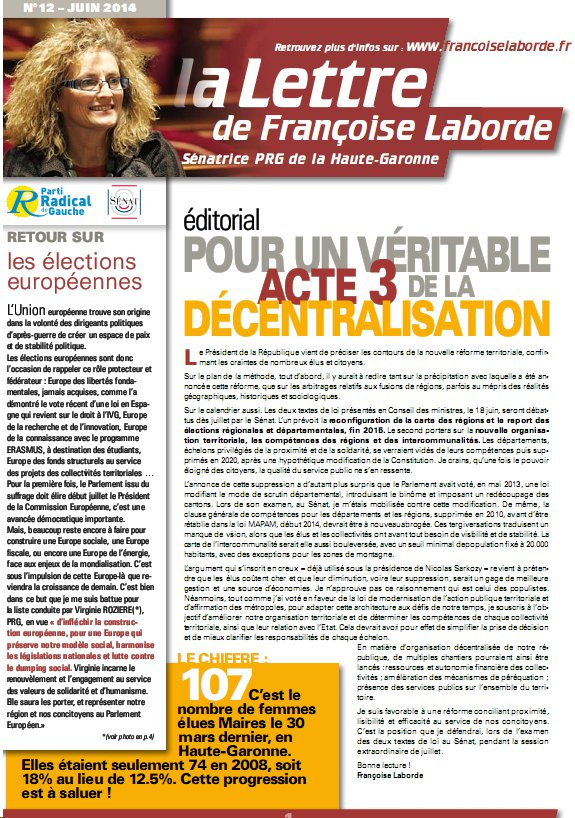N°12 - juin 2014 - news F. Laborde