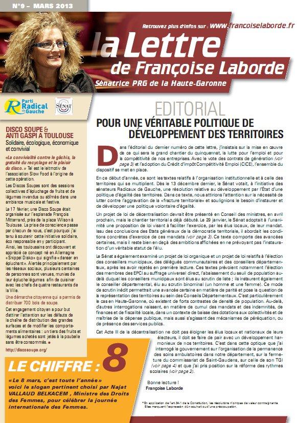 N°09 - mars 2013 - news F. Laborde