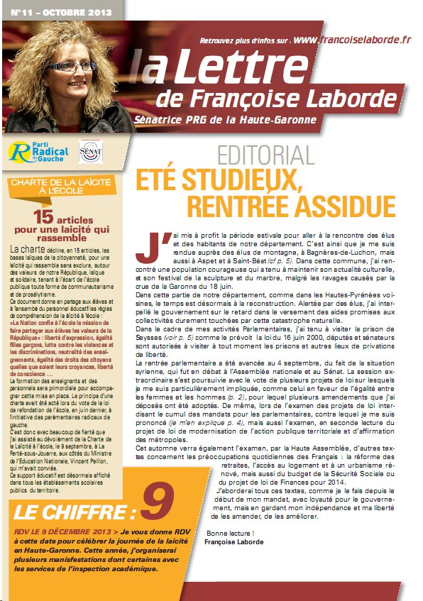 N°11 - octobre 2013 - news F. Laborde