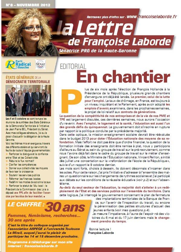 N°08 - novembre 2012 - news F. Laborde